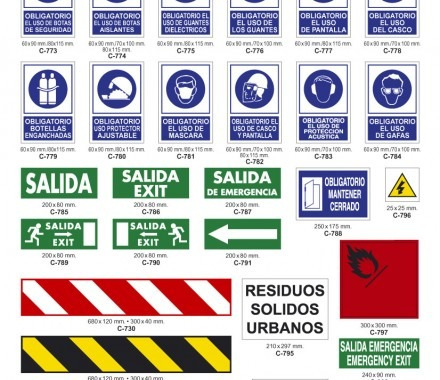 avisos y señalizaciones de seguridad industrial.