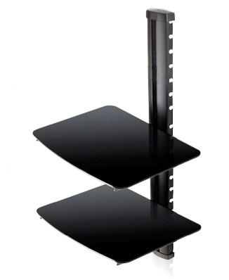 base de 2 repisas para audio, dvd, deco, blu ray . zuget-106