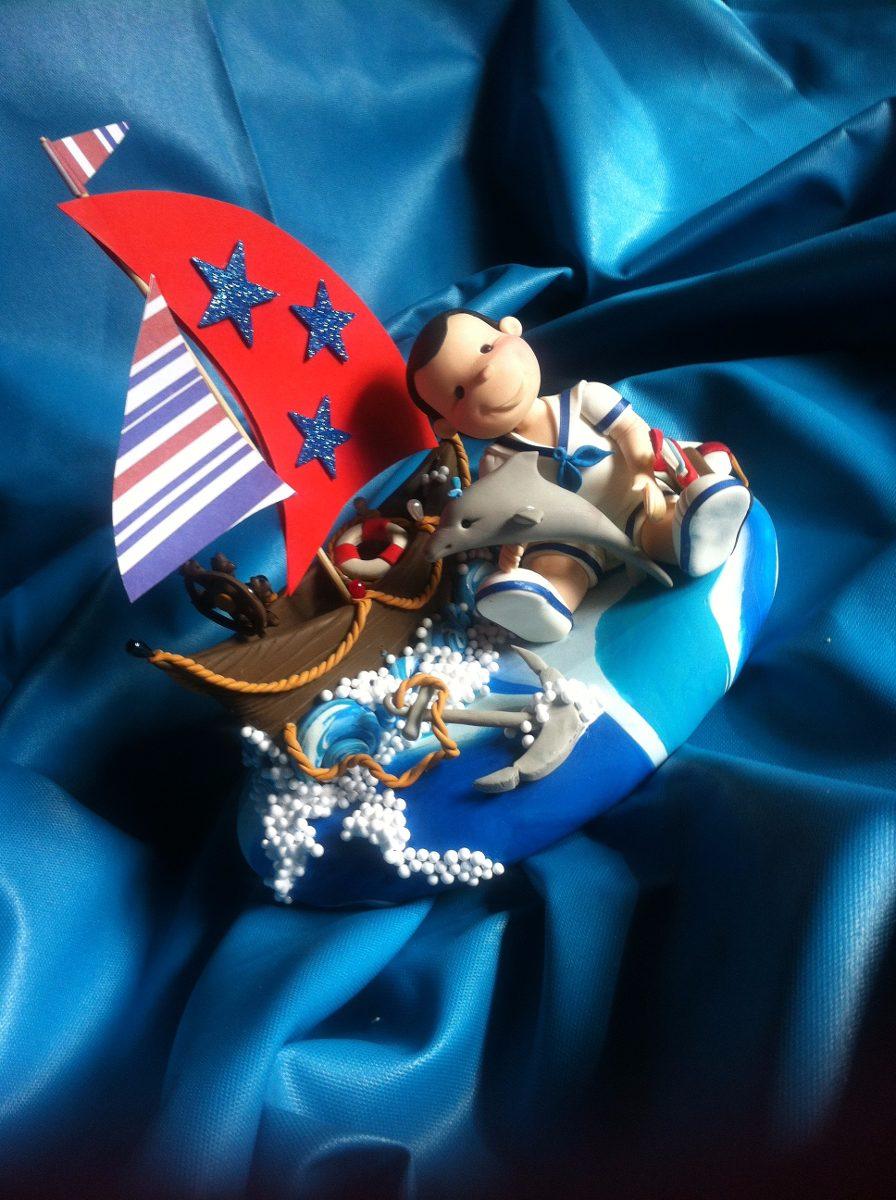 decoracion de torta para baby shower tema marinero 753521