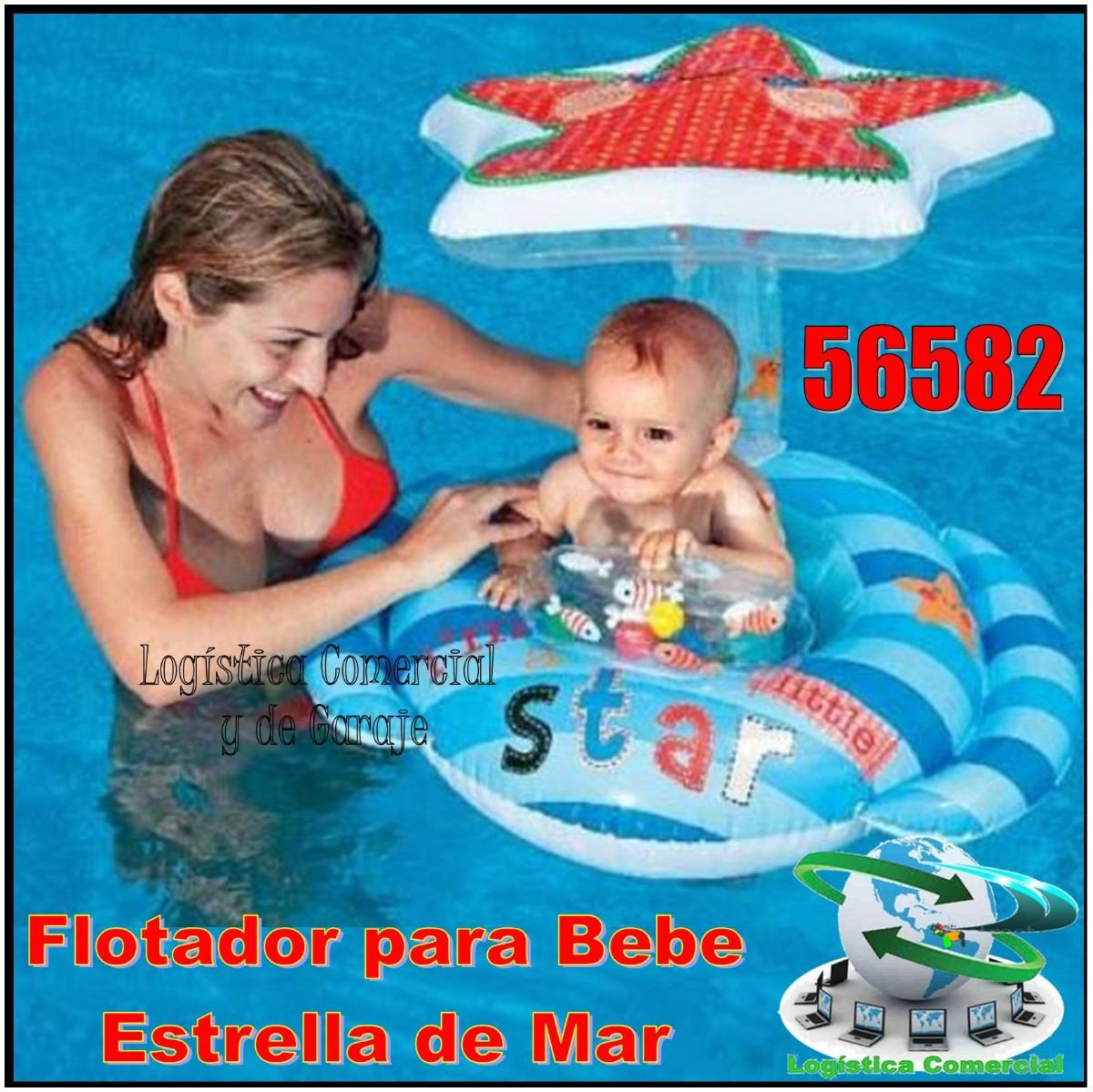 Flotador inflable para bebe con parasol estrella intex for Piscina inflable intex para bebe