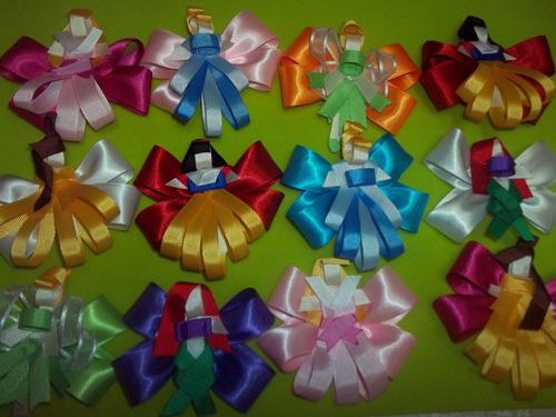 lazos para niñas de princesas disney en cintas de gros