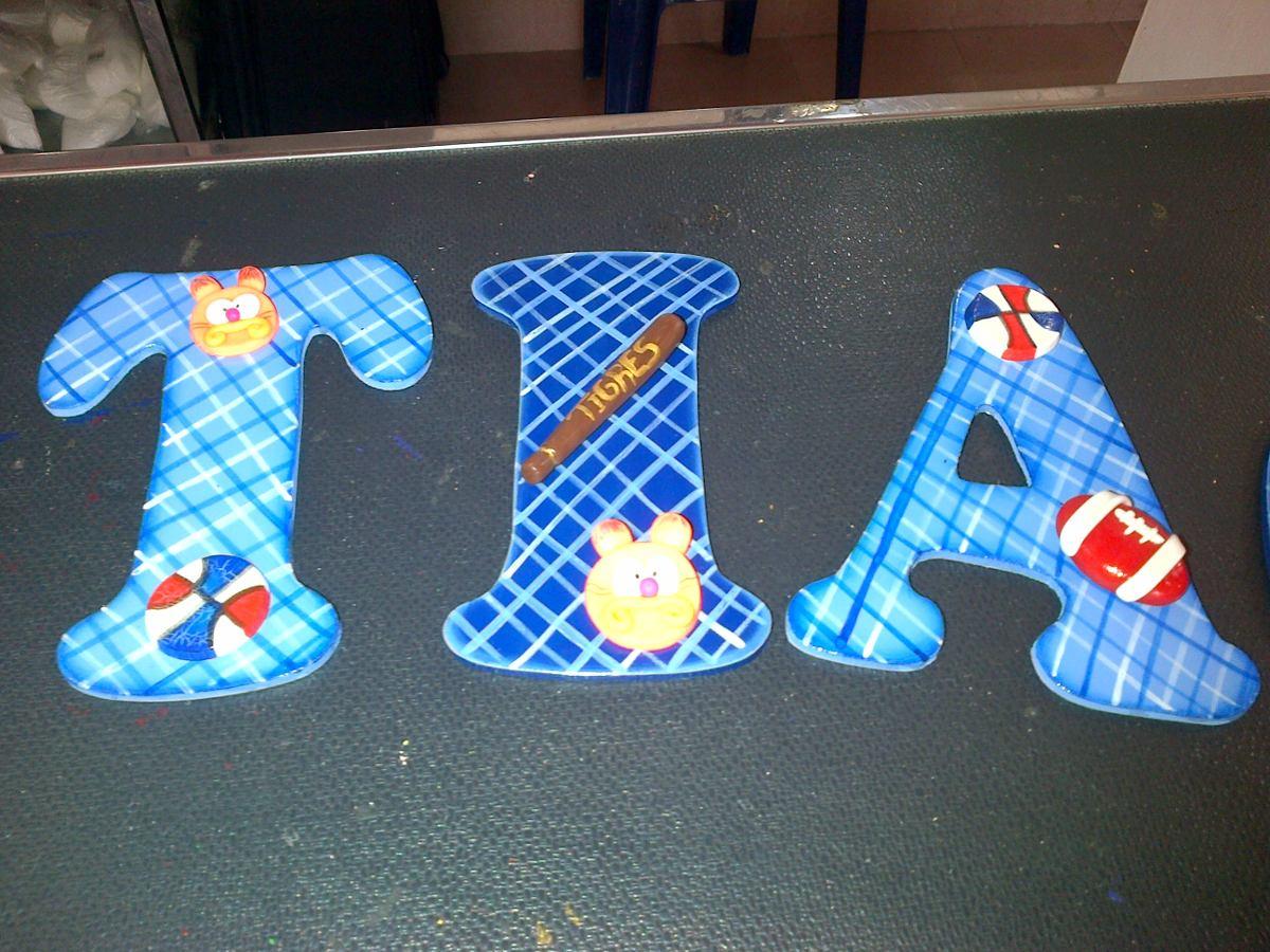 Letras y numeros para pintar y decorar a su gusto en mdf - Letras para decorar ...