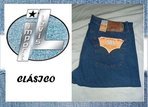pantalones levis 501 100% importados corte original