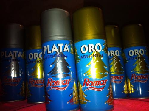 pintura en spray oro plata artificial color metal importado