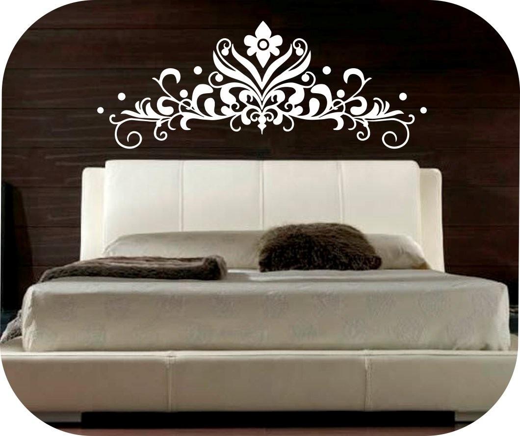 Vinilos decorativos cabeceros de camas decora tu pared bs en mercado libre - Vinilos cabeceros cama ...