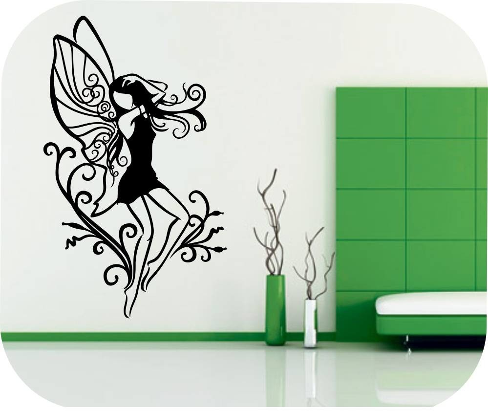 Vinilos decorativos motivos hadas mariposas fantasia pared - Vinilos de frases para pared ...